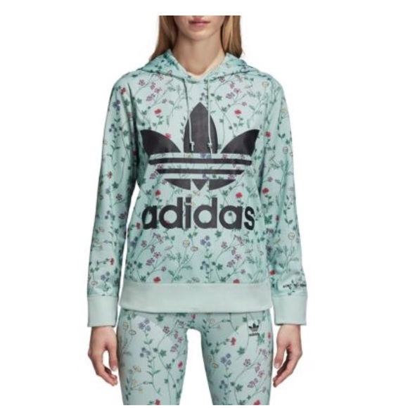 super cheap best sneakers innovative design Adidas women's printed floral hoodie. S NWT